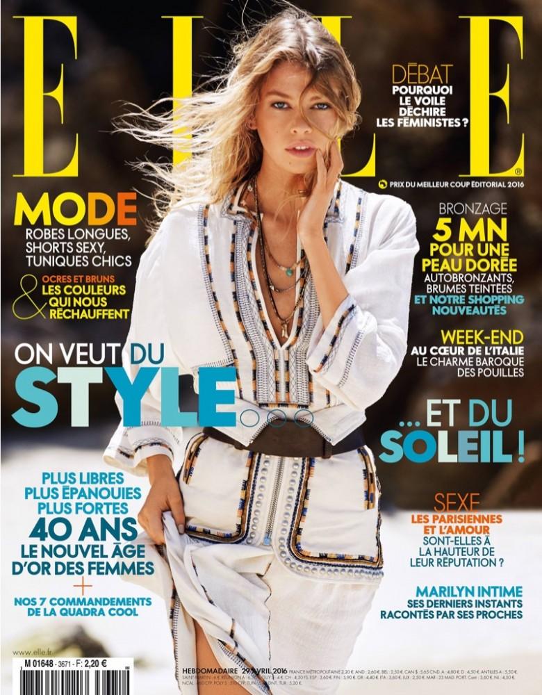 Couverture du magazine ELLE France avec Stella Maxwell