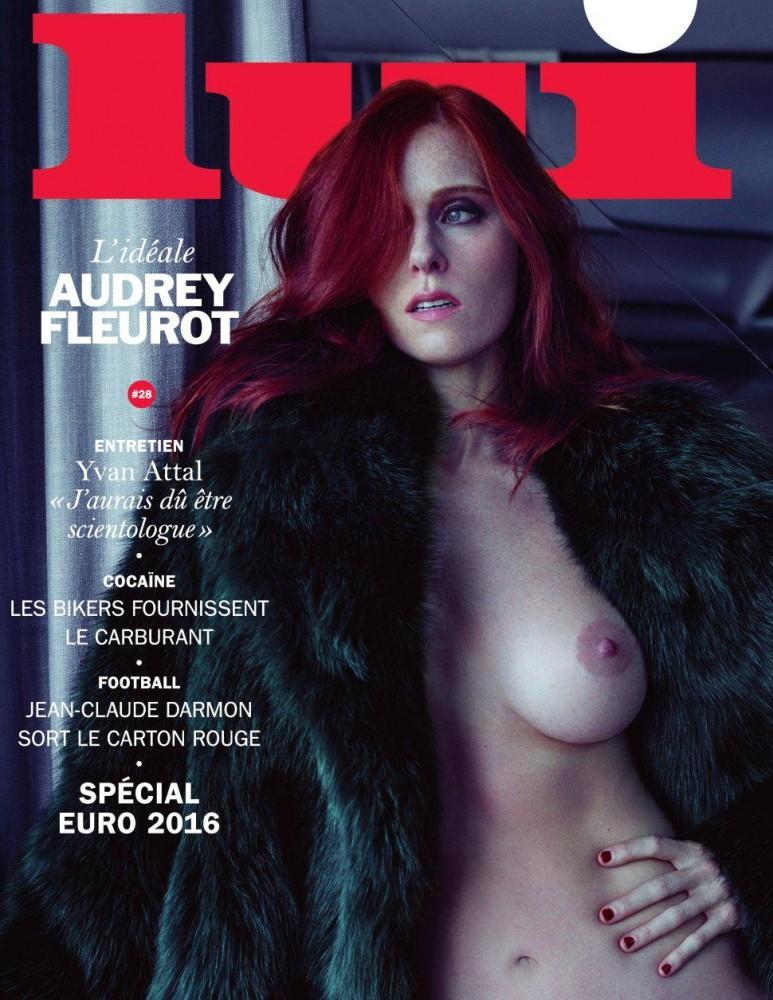 Audrey Fleurot pose nue en couverture du magazine Lui