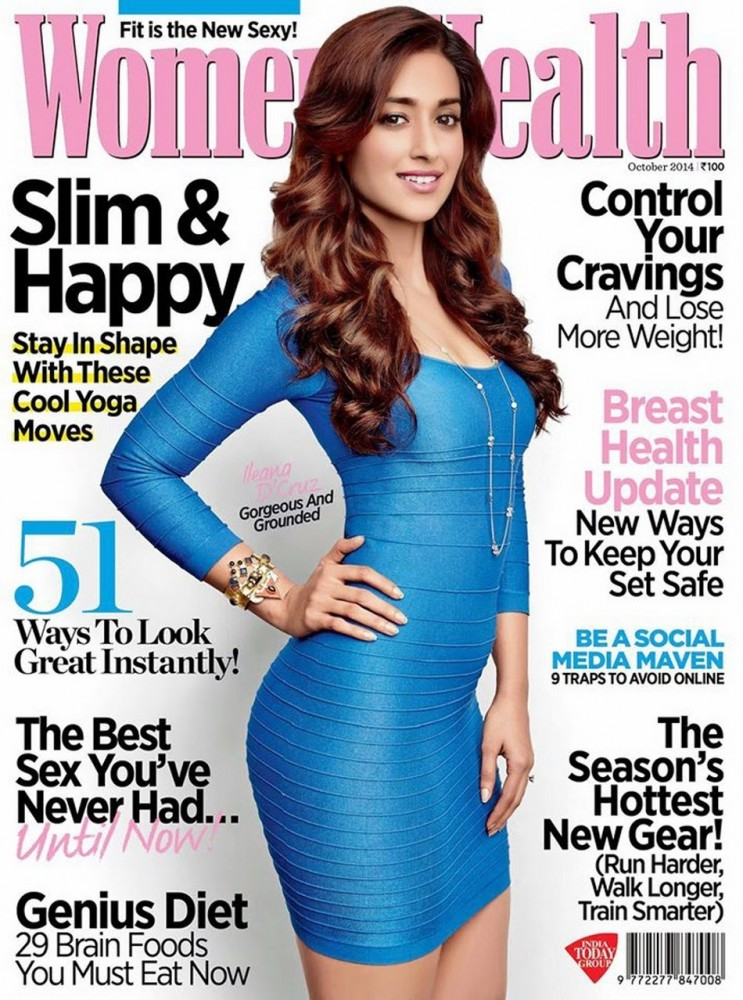 Ileana D'Cruz pose en couverture du magazine Women's Health