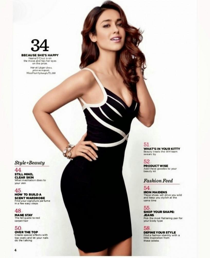 Ileana D'Cruz pose pour le magazine Women's Health indien