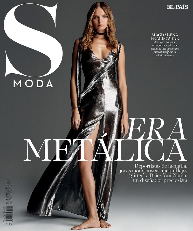 Magdalena Frackowiak pose en couverture de S Moda
