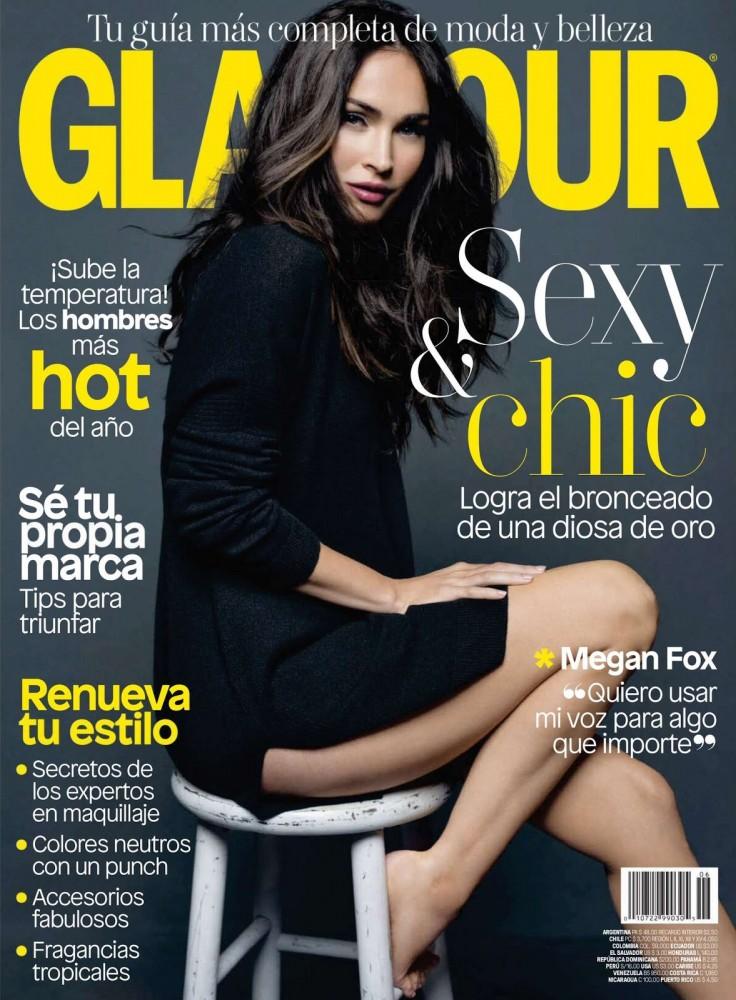 Couverture du magazine Glamour sud-américain avec Megan Fox