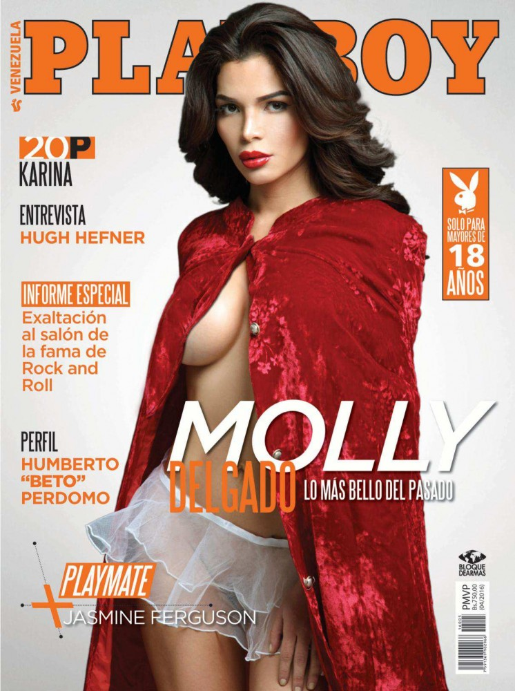 Moly Delgado pose pour le magazine Playboy Venezuela