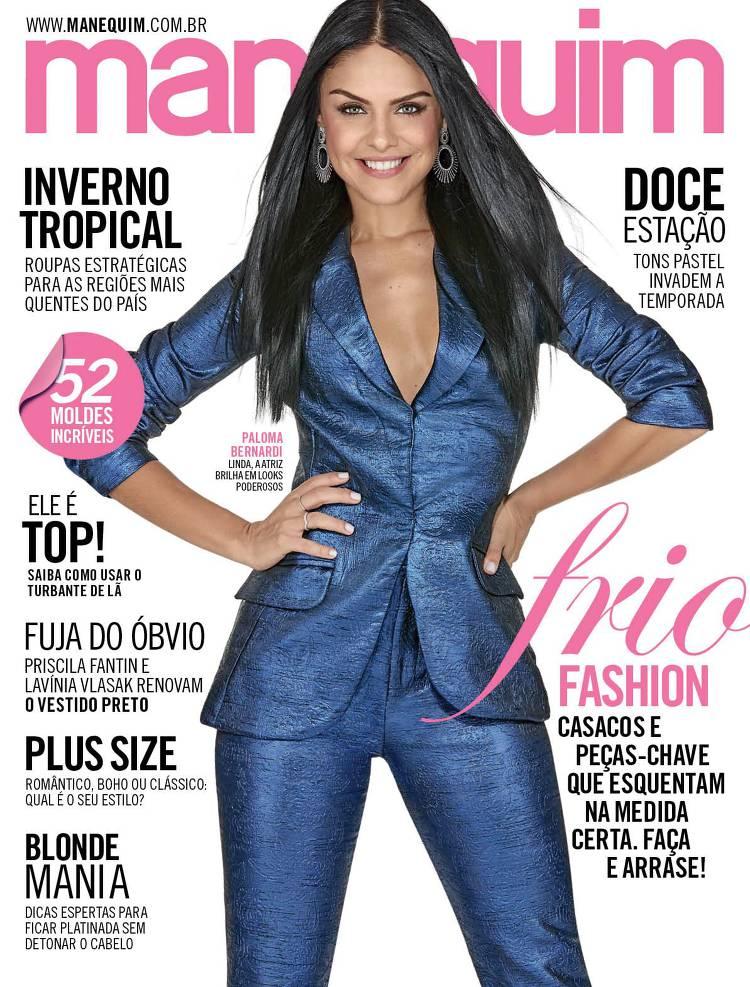Couverture du magazine Manequim Brésil avec Paloma Bernardi
