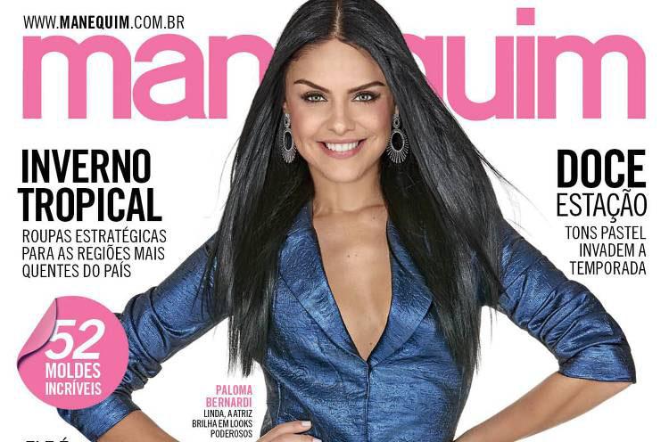 Paloma Bernardi pose pour le magazine Manequim Brasil