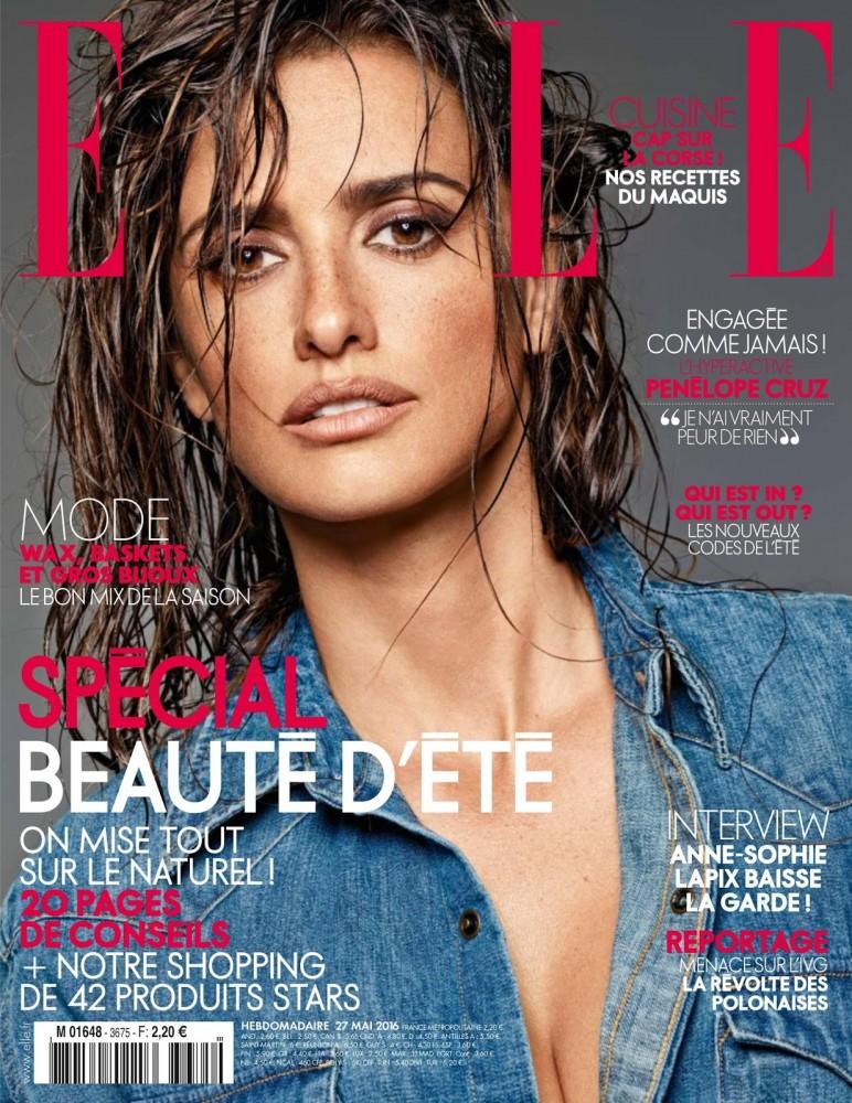 Penelope Cruz pose en couverture du magazine féminin ELLE France