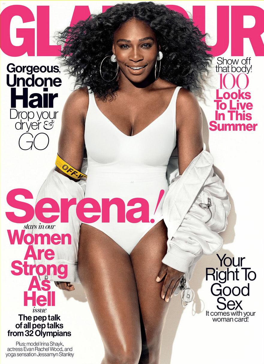 Serena Williams en couverture du magazine Glamour
