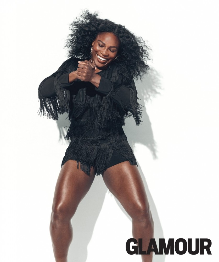 Serena Williams pose pour le magazine Glamour