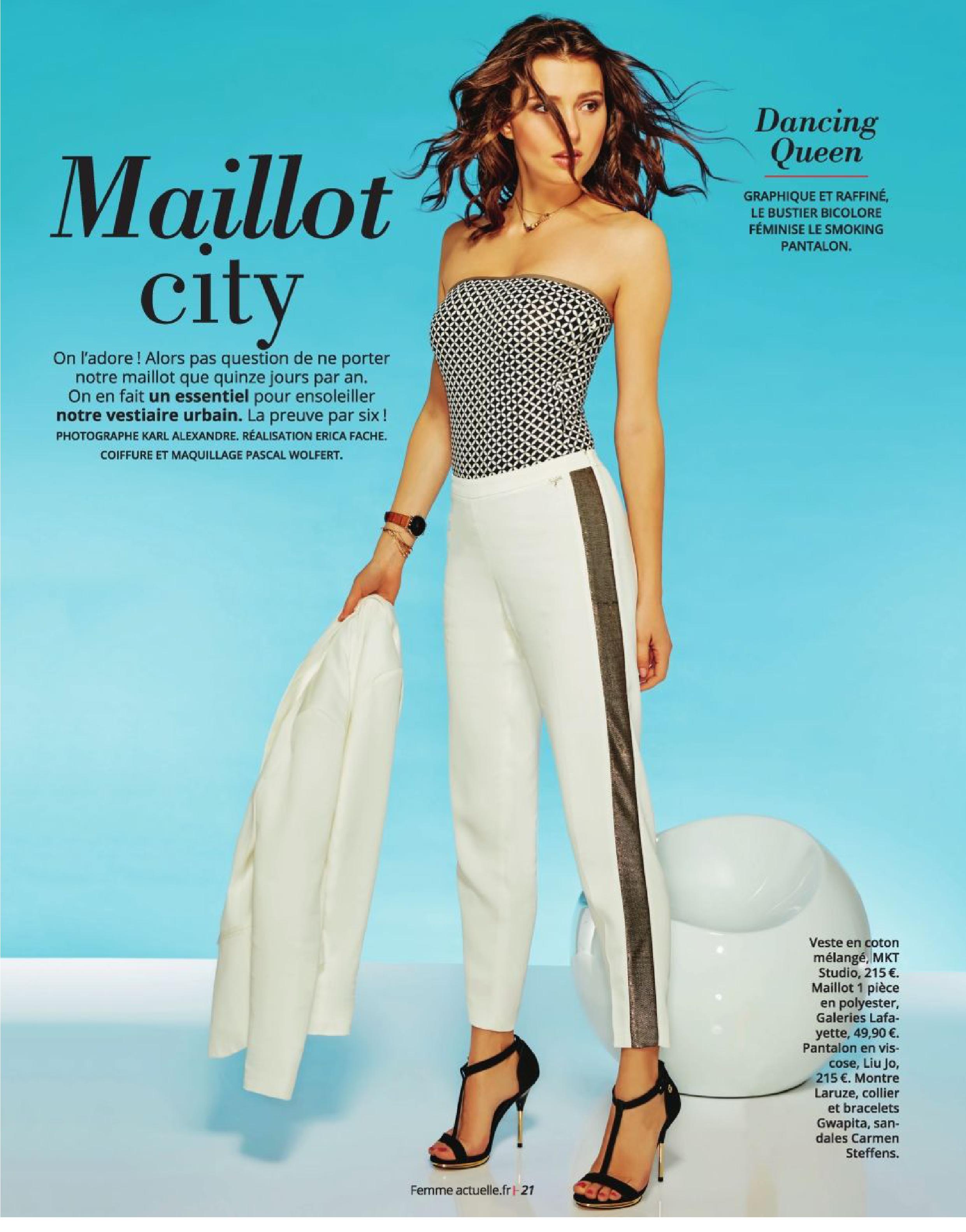 Tatiana Platon pose pour le magazine Femme Actuelle de Juin 2016