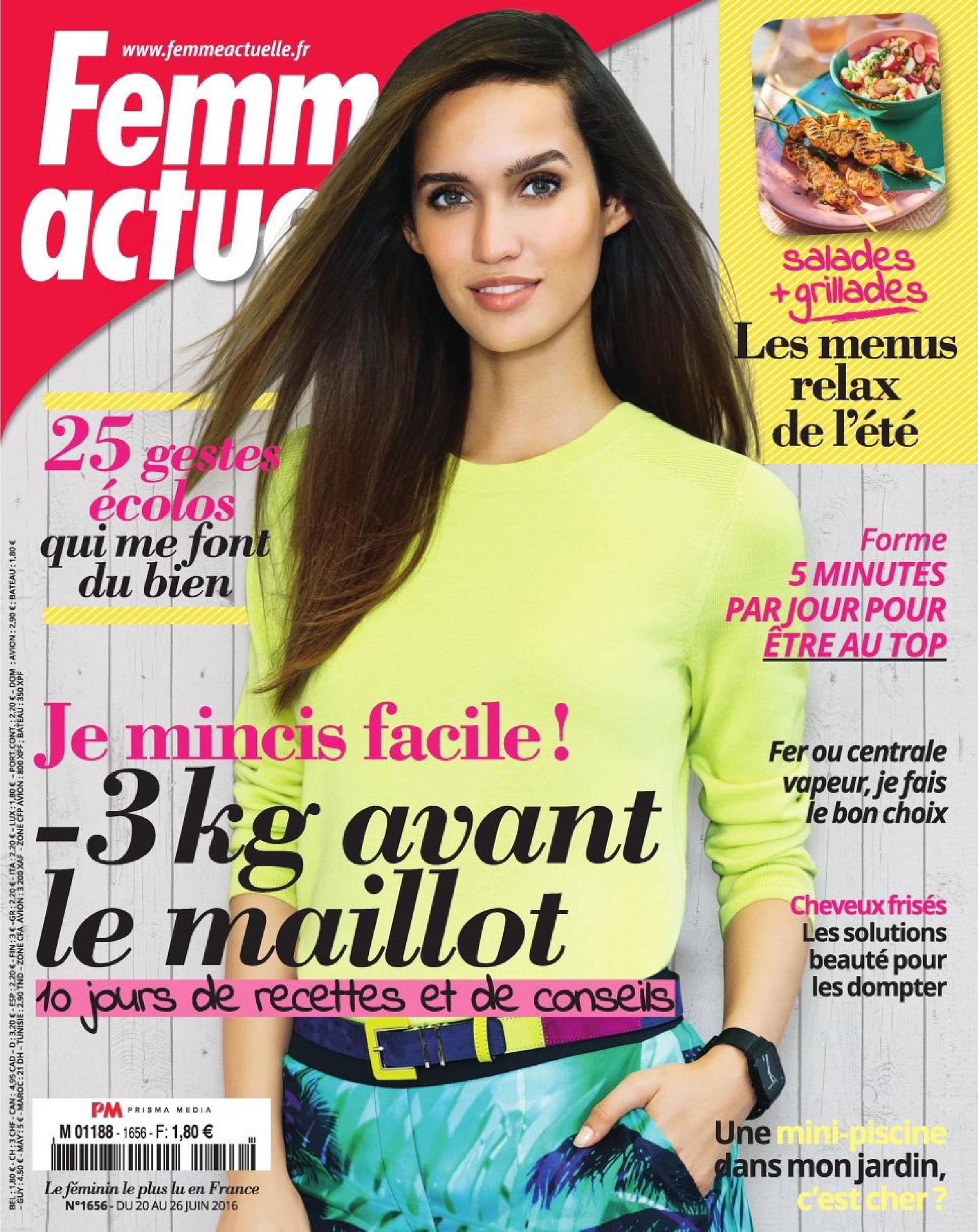 Femme Actuelle 1656 du 20 Juin 2016