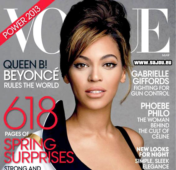 Beyoncé en couverture du Vogue US de Mars 2013