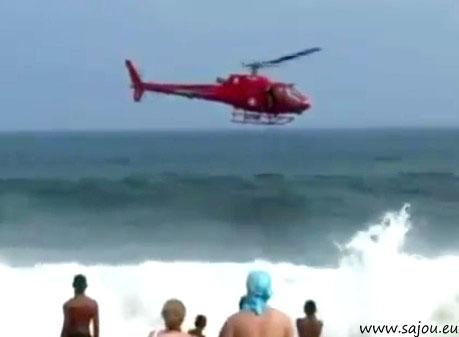 Un hélicopter se crash à Copacabana au Brésil