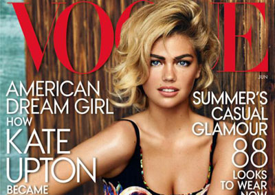 Kate Upton dans Vogue US par Mario Testino