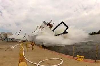 Accident lors d'une mise à l'eau d'un bateau