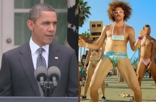 Barack Obama chante I'm Sexy and I know it de LMFAO