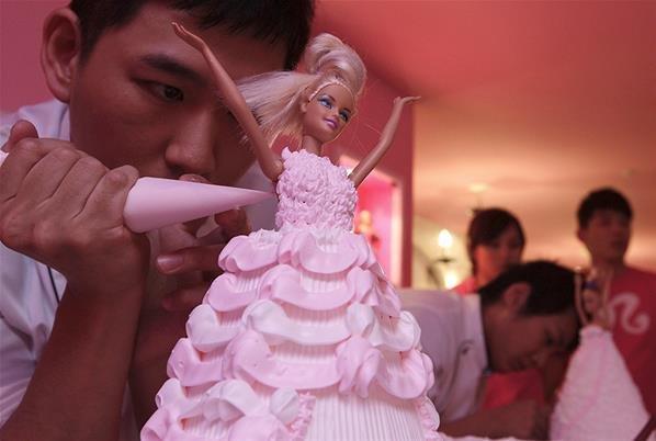 Un Barbie Café ouvre à Taiwan