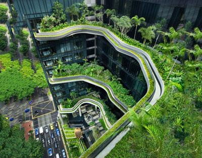 Découvrez l'hôtel vert le Parkroyal à Singapour