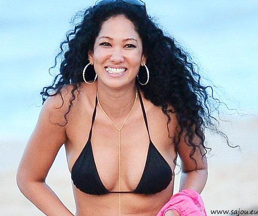 Kimora Lee Simmons en bikini à Saint Barth