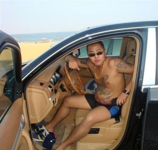 Photos volées d'un portable de gangster chinois