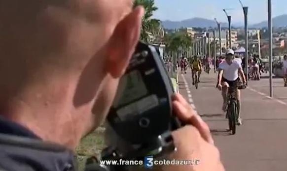 Un radar à vélo dans le sud de la France