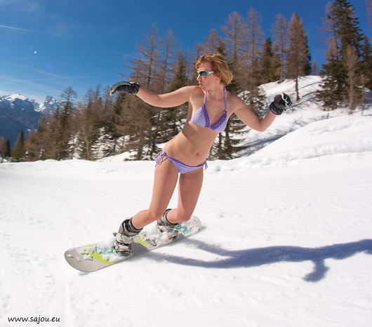 Sex on a snowboard obviously