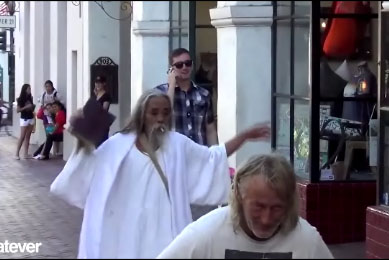 Un faux Jesus version Thug Life