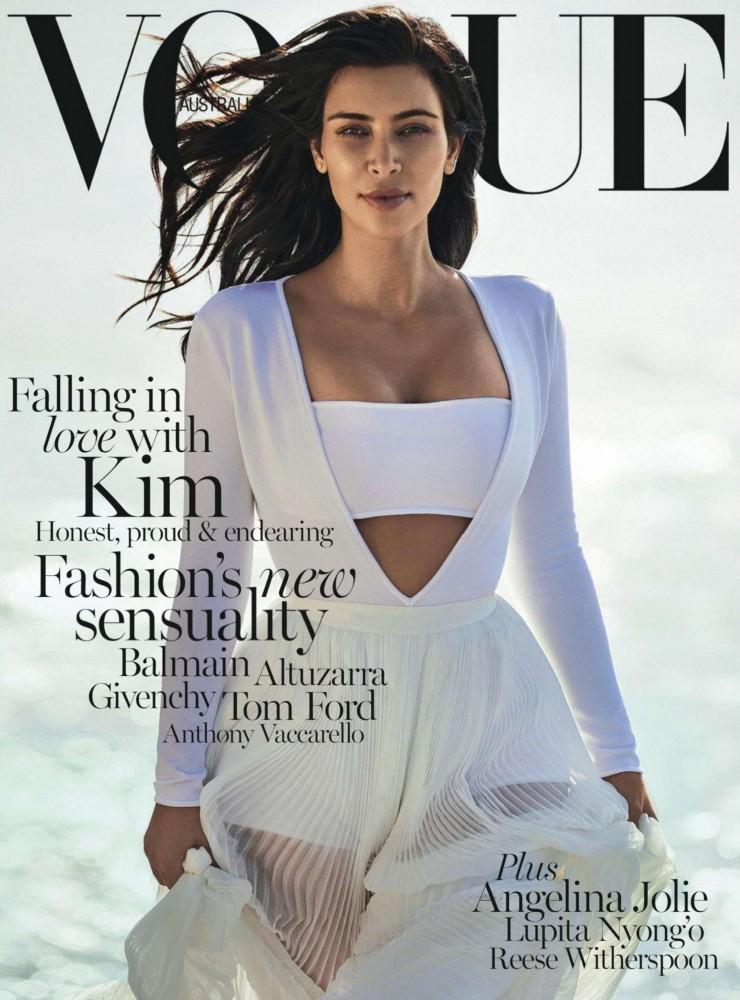 Couverture du magazine Vogue Australie avec Kim Kardashian