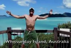 Steve Kamb fait de l'exercice autour du Monde