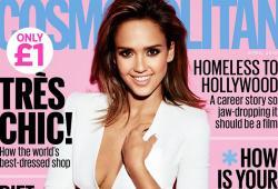 Jessica Alba pose pour le magazine Cosmopolitan UK