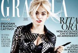 Rita Ora pose pour le magazine Grazia Italia