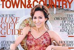 Stephanie Kienle Gonzalez pose pour Town and Country magazine