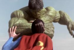 Animation Superman versus Hulk, combat choc !