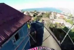 La descente de la ville de Valparaiso en VTT