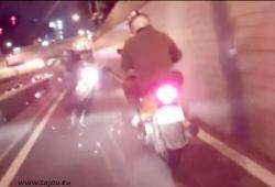 Accident de scooter à 360°