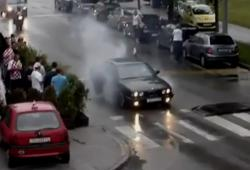 Il fait un burn avec sa BMW : fail