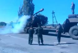 Fail lors d'un chargement de char ukrainien sur un camion