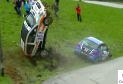 Double crash au même endroit durant un rallye