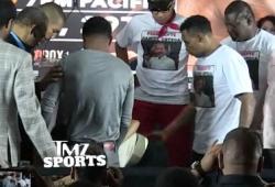 Ricardo Mayorga touche les fesses de la copine de son adversaire