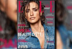 Penelope Cruz pose pour le magazine ELLE France de Juin 2016