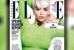 Rita Ora pose pour le magazine ELLE Canada de Février 2016