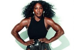 Serena Williams pose pour le magazine Glamour américain