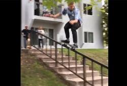 Un skateur frôle la mort après son trick