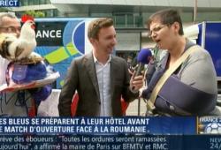 Une supportrice française bug lors d'une interview en direct