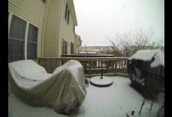 Time Lapse - 1 mètre de neige tombe sur l'Est des États-Unis