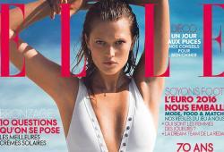 Toni Garrn pose pour le magazine ELLE France de Juin 2016