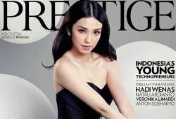 Velove Vexia pose pour le magazine Prestige Indonesia